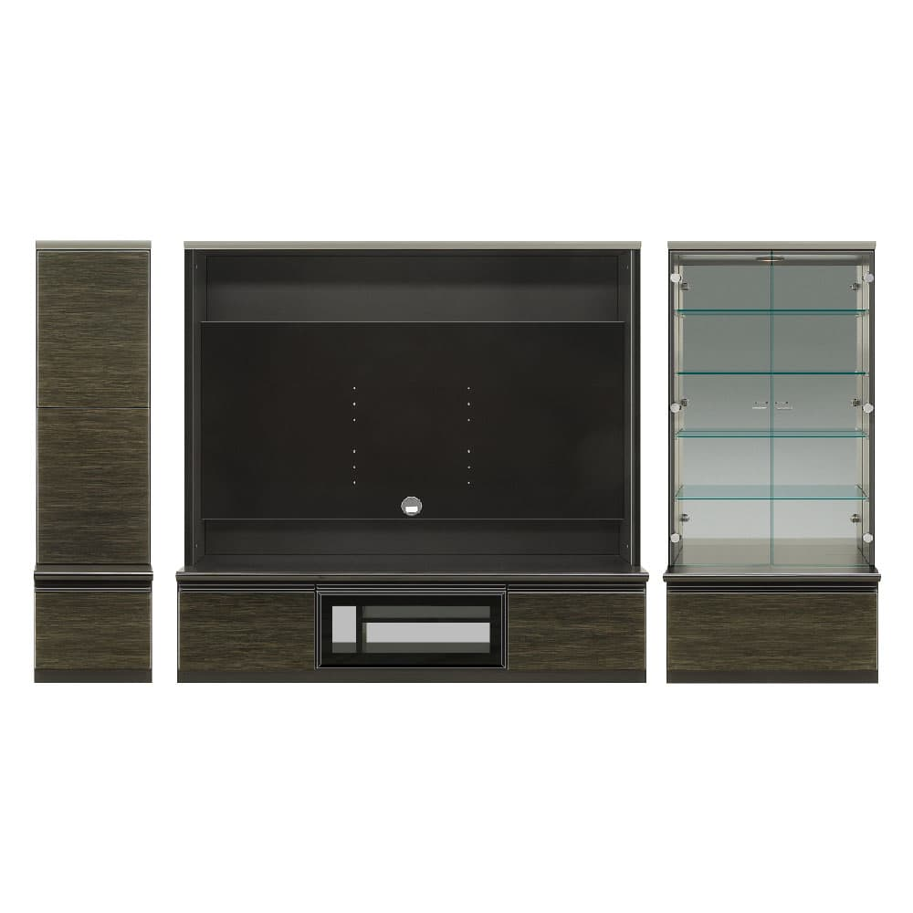 400左リビング+1600TV+700コレクション 前板/ゼブラブラック色