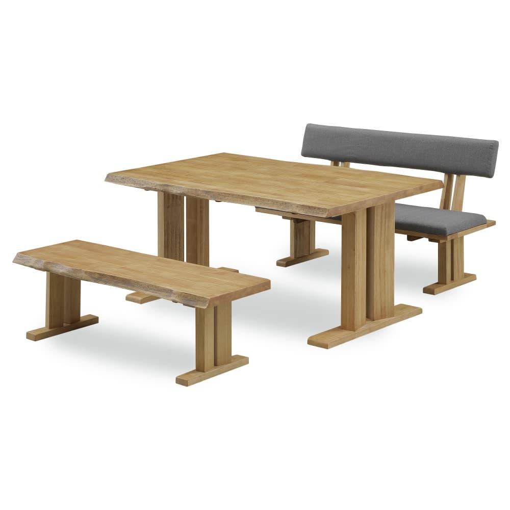 W1500テーブル+1300ベンチ+1300背付ベンチ