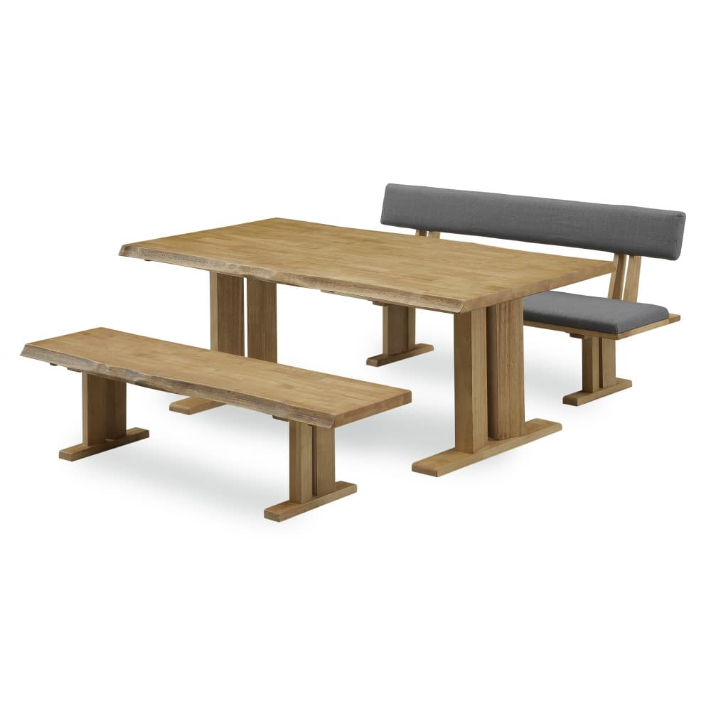W1800テーブル+1600ベンチ+1600背付ベンチ
