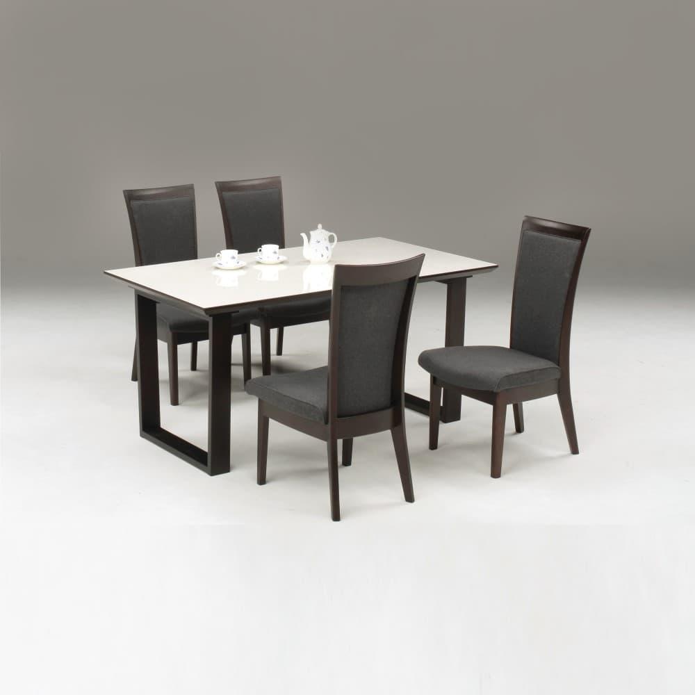 W1500シェルホワイト色(2LEG)テーブル+DC-2×4脚