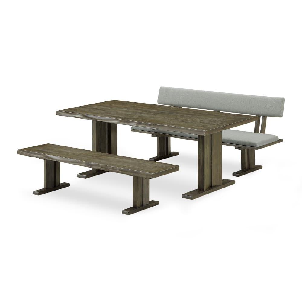 W1800mmテーブル+1600ベンチ+1600背付ベンチ