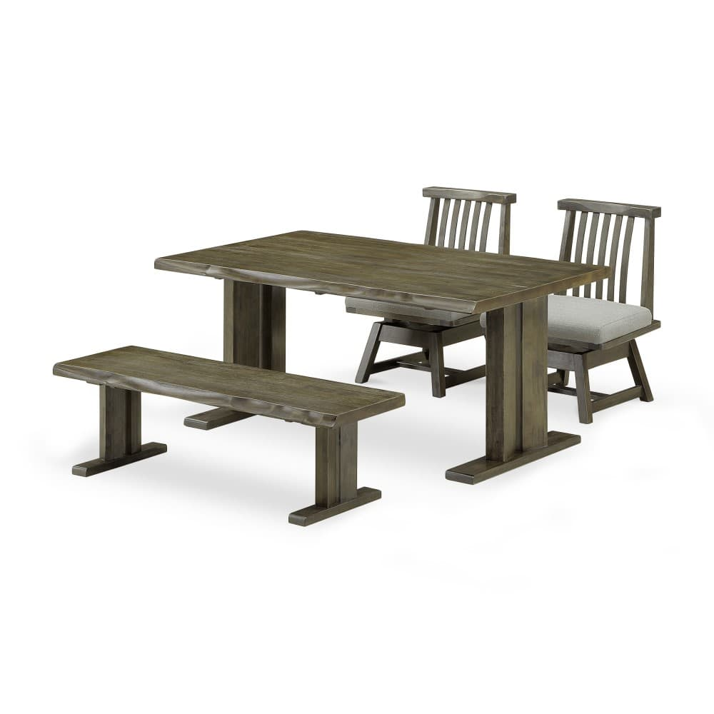 W1500mmテーブル+1300ベンチ+1300背付ベンチ