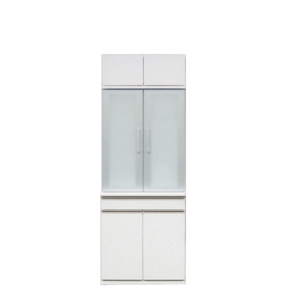 W600H食器棚 (上台600H+下台600B)/前板 ゼブラホワイト色