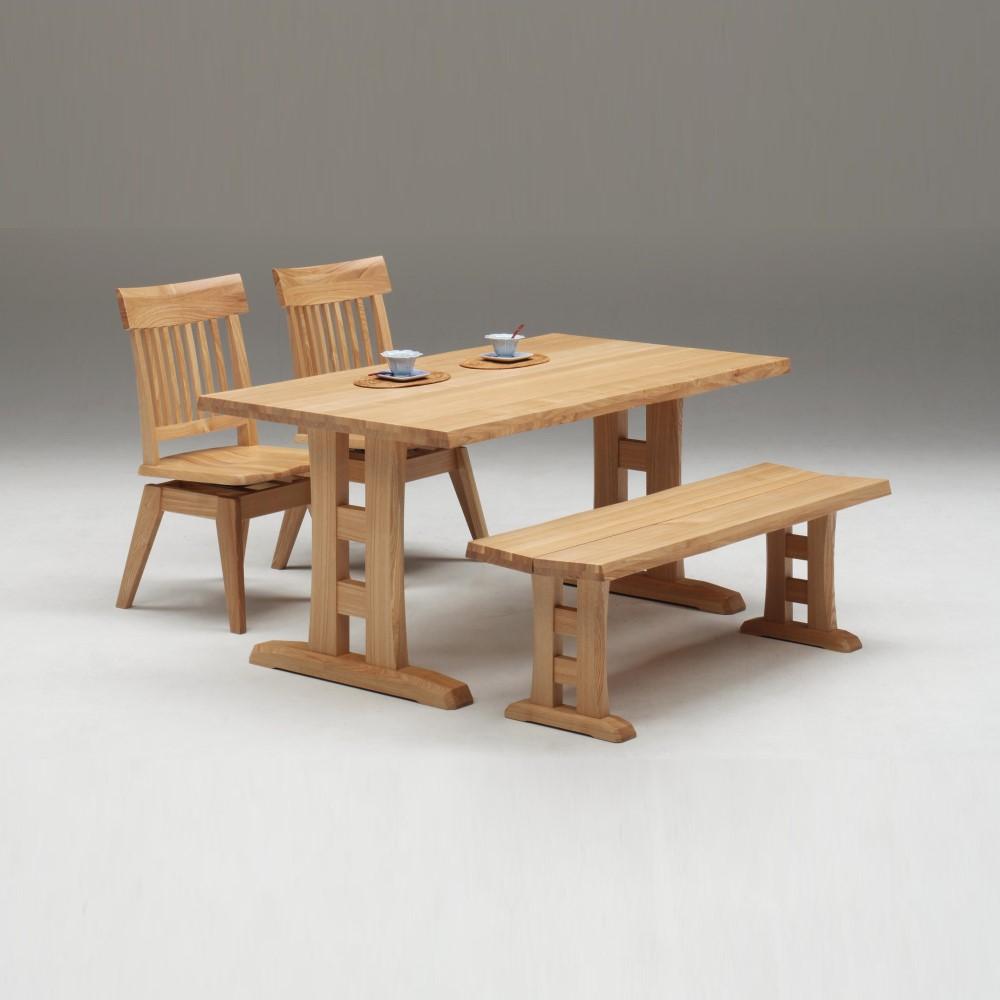 W1500テーブル+1300ベンチ+回転イス×2脚