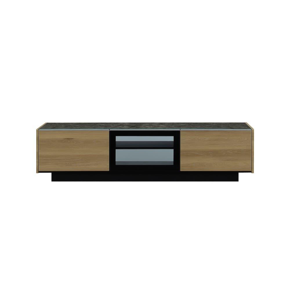 W1800TV 前板 キャナルオーク色、天板 ブラック色